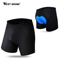 West Biking Sweat Quick Day Riding Gel Silicone Cushion Shorts Bicycle Bike Breathable 3D Pad Briefs