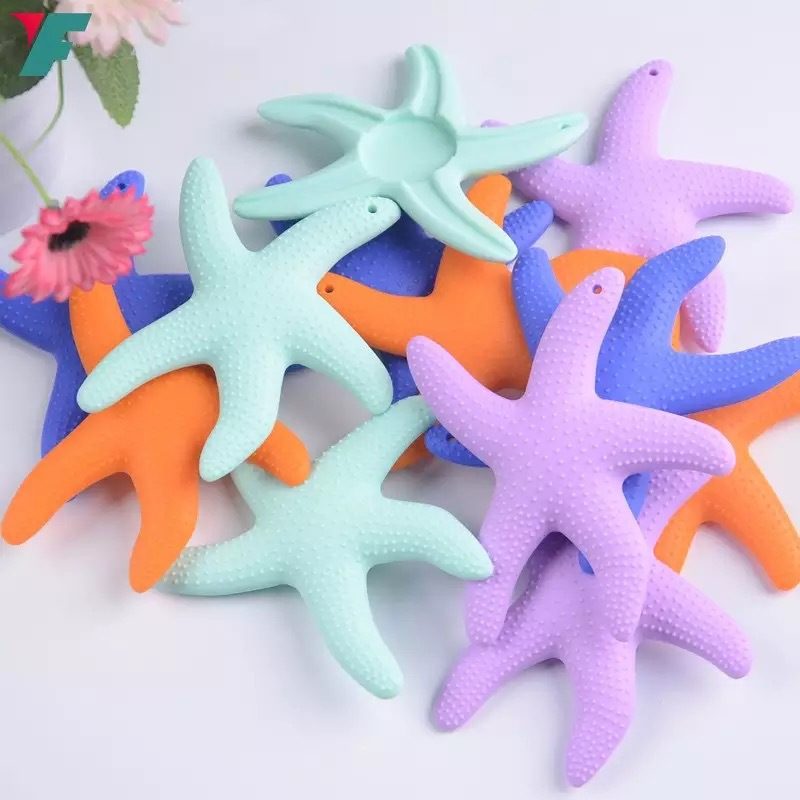 Купить с кэшбэком Rodent Baby molars Good Assistant Teether Starfish Teeth gel Silicone safe and Healthy Baby baby Teeth stick