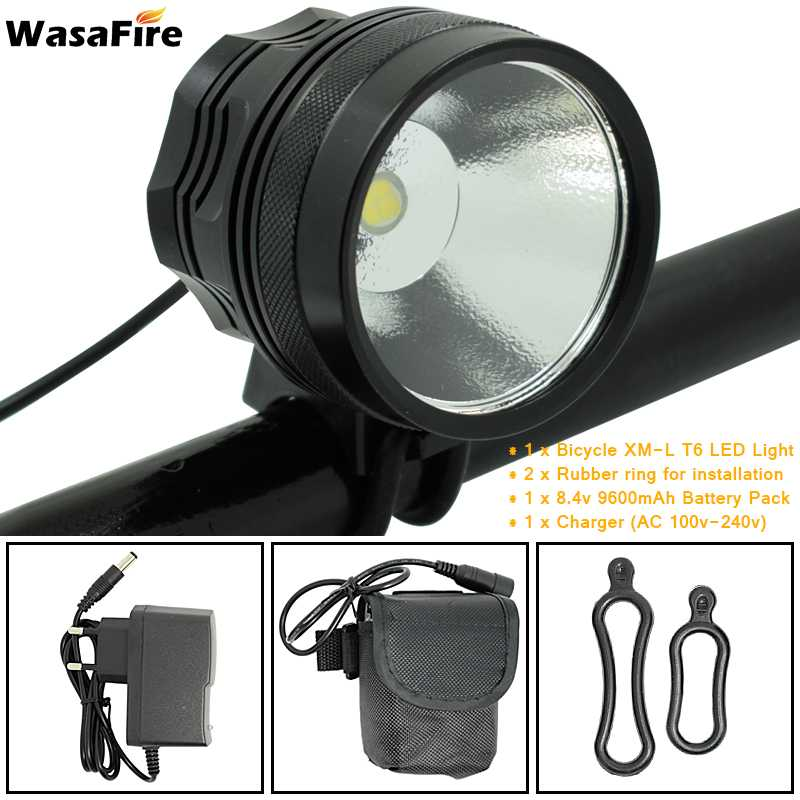WasaFire Waterproof XHP70 Cycling Front Bike Light Fishing Camping Headlight Headlamp Bicycle Lamp Flashlight 9600mAh Battery