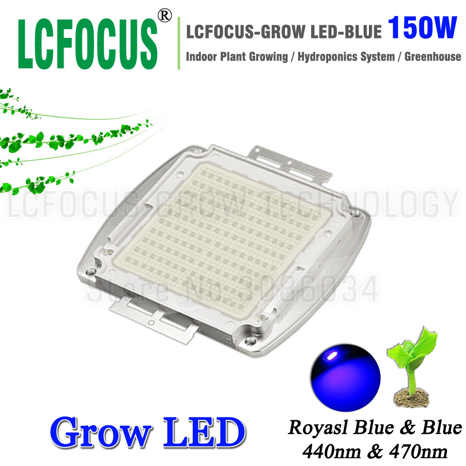 High Power LED Chip 150W Royal Blue 440nm <font><b>470nm</b></font> Diode COB Plant Growth Hydroponics Tent For DIY 150 Watt LED Grow Light image