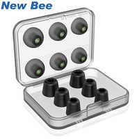 New Bee Ersatz Lärm Isolieren 3 pairs Memory Foam tipps & 3 pairs Silikon Earbuds Ohr Pads für Kopfhörer Kopfhörer schwarz