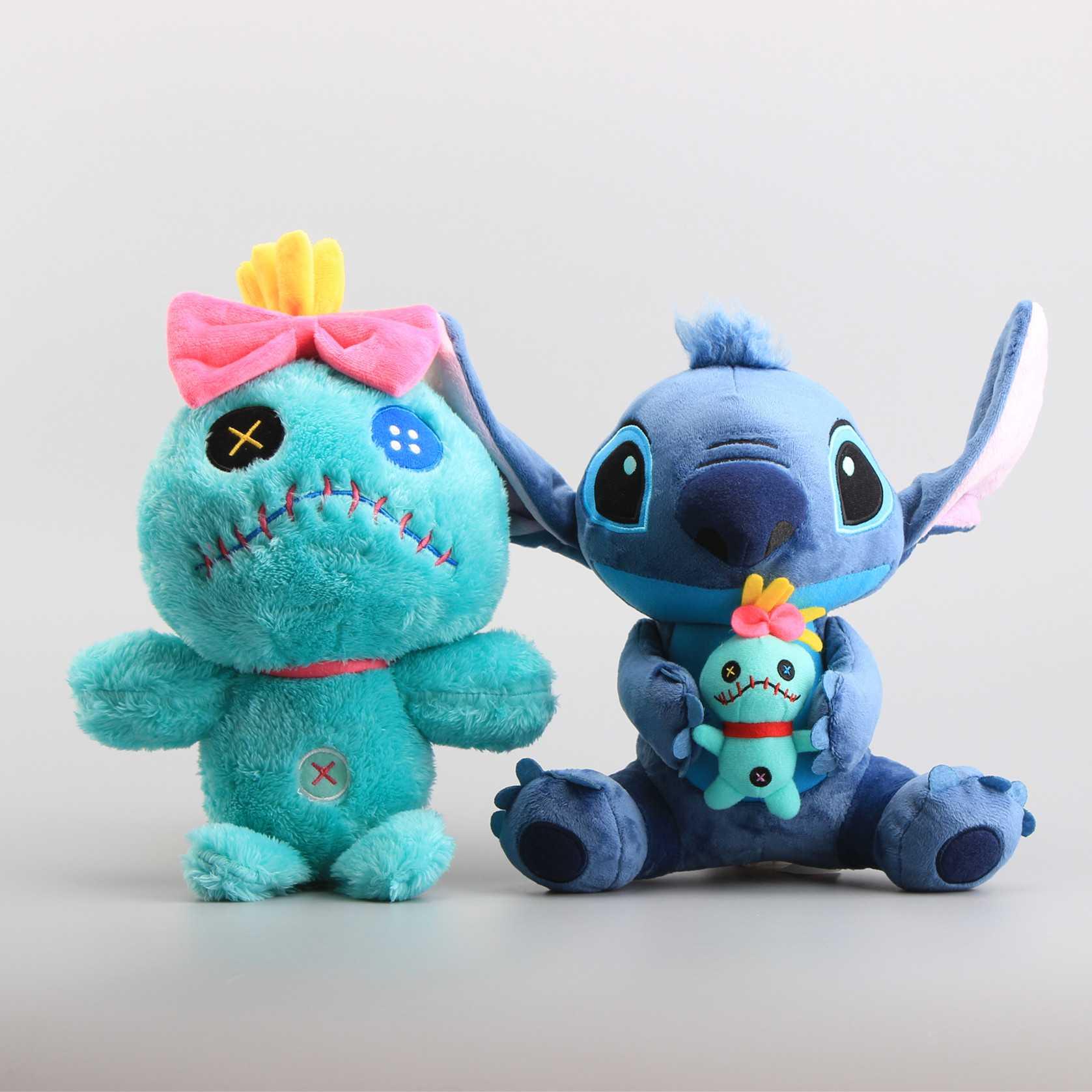 Cartoon Lilo Stitch Scrump Plush Doll Toys Cute Soft Stuffed Dolls Chilren Gift 25 32 Cm In Animals From Hobbies On