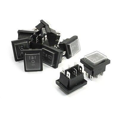 1Black 6 Pin DPDT On/Off/On Waterproof Rocker Switch AC 250V/16A 125V/20A
