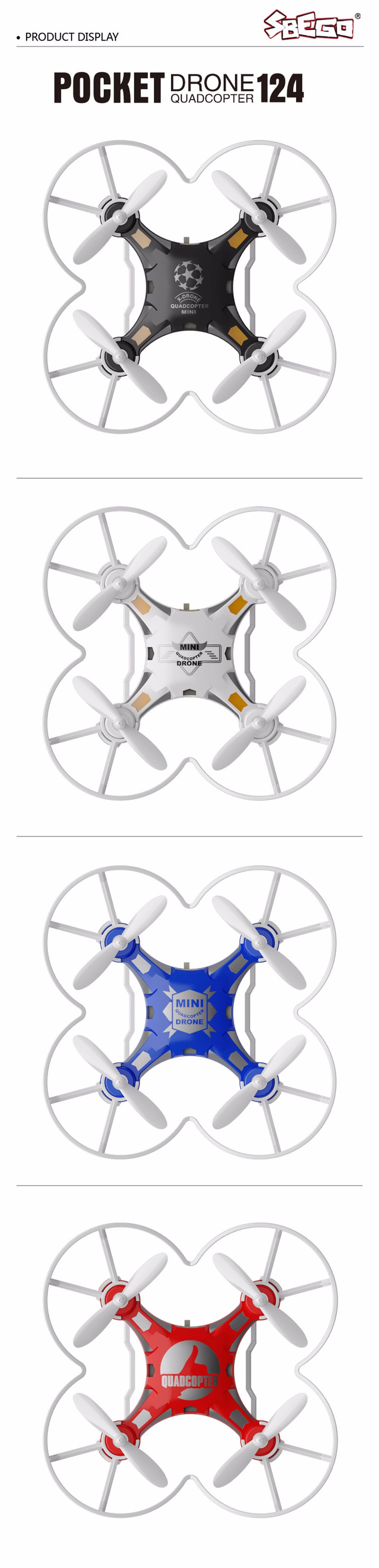 SBEGO FQ777-124 Mini Drone Micro Pocket 4CH 6Axis Gyro Switchable Controller RC Helicopter Kids Toys VS JJRC H37 H31 Quadcopter 15