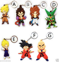 Dragon Ball Z Goku Super Saiyan Goku Vegeta 7 pçs/lote Figuras PVC Keyring(China)