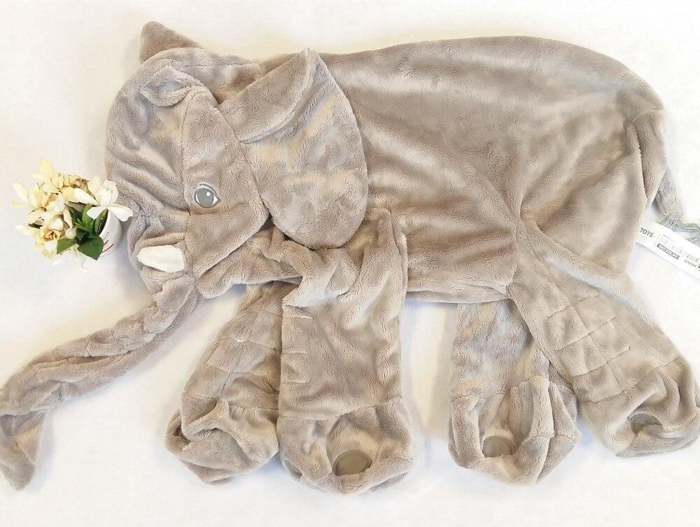 60cm Elephant Skin Plush Soft Toy Stuffed Baby Kids Toy Anminal Big Size Appease Baby Sleep