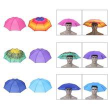 1 PC Portable Outdoor Umbrella Hat Sun Shade Waterproof Sports