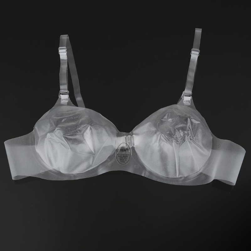 Sexy Clear Bra Women Soft Cup Thermoplastic Polyurethane Bralet Invisible Bra With Shoulder Strap Transparent Bralette Lady