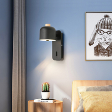 Nordic modern simple bedroom bedside lamp creative personality study corridor iron wall lamp household led wall lamp sconce bra недорого