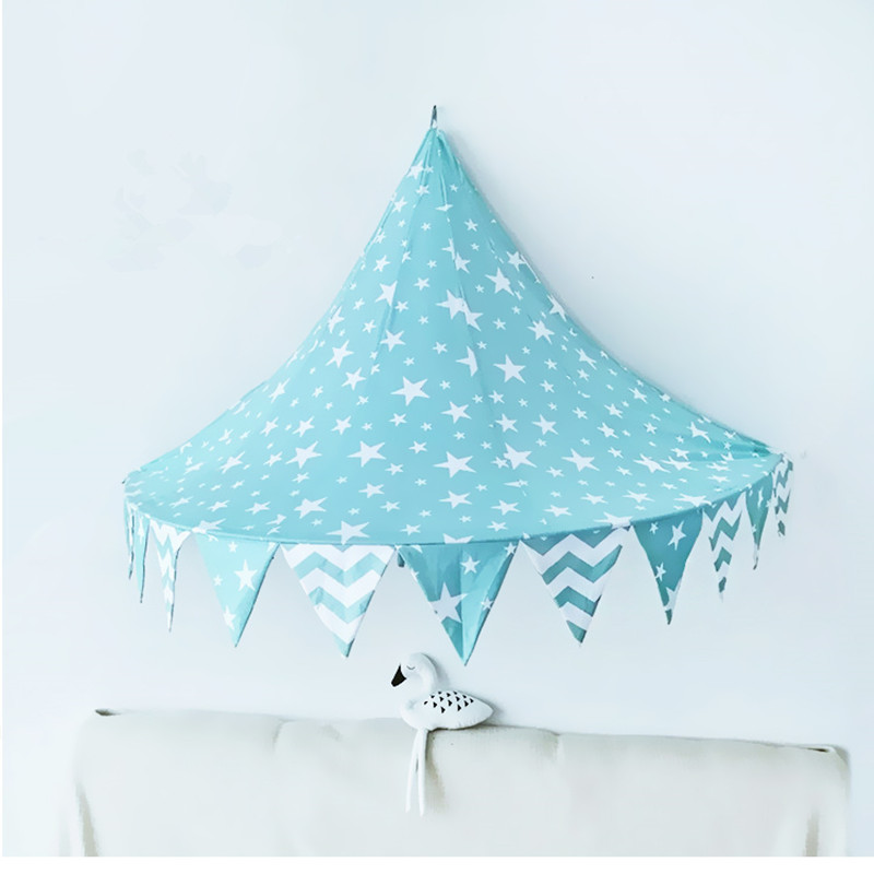 Cotton Mosquito Net Baby Indoor Half-moon Bed-mantle Baby Room Decoration Wall Hanging Tent Photography Props Baby Crib Netting цена 2017