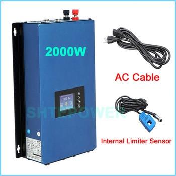 Inversor con sensor limitador MPPT Solar 2000W conversor inversor DC 45-90V a AC 110V 220V salida sistema de conexión a red conectado