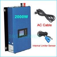 inverter with limiter sensor MPPT Solar 2000W invertor converter DC 45 90V to AC 110V 220V output Grid tie system connected