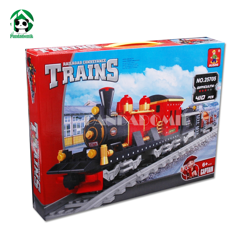 Building Toy Blocks Set Train Railway 410pcs Bricks DIY Educational Toy Model Assembly Kit Fun Interesting Gift Toy for Children mens watches top brand luxury lige 2017 men watch casual tourbillon automatic mechanical leather wristwatch relogio masculino