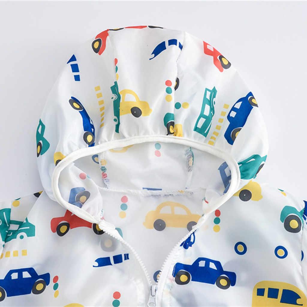 פעוט ילדים קיץ קרם הגנה מעילי הדפסת סלעית הלבשה עליונה רוכסן מעילי 2019 חדש זרוק חינם