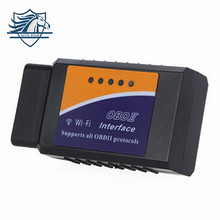 HOT promotion V1.5 Elm327 wifi OBDII obd2 ios Car Diagnostic Interface Scanner for iPhone iPad iPod free shipping