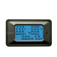 Digital display current meter 20A100A power test electric quantity measuring socket AC voltage and current meter