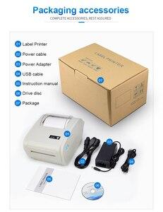 """Image 5 - 4 סנטימטרים תרמית חינם תווית מדפסת ברקוד Bluetooth תמונה מדבקת תרמית מדפסת עבור Ebay Etsy Shopify 160 מ""""מ\שנייה"""