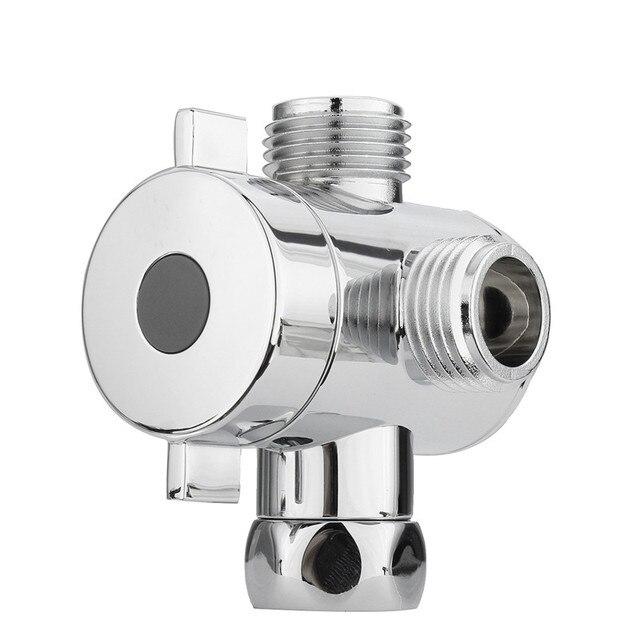 La cabeza de ducha de derivación de G1 2 pulgadas baño tres T adaptador T 0431603f1d9b