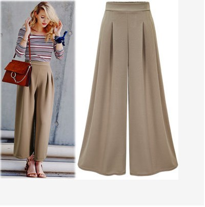 Loose Style New Arrival 2018 Spring Women Pants Plus Size Robe Female Elegant Casual Office Wear Bandage Wide Leg Pants HJ569