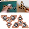 Hot Sale Triangle Wooden Fidget Spinner Hand Puzzle EDC Focus Toys For ADHD Austim