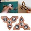 Venda quente Triângulo De Madeira Spinner Fidget Mão EDC Concentrar Brinquedos do Enigma Para O TDAH Austim