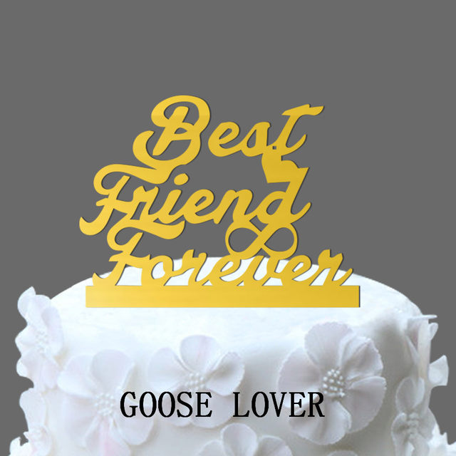 Online Shop Wedding Cake Topper Monogram , Best Friend Forever With ...