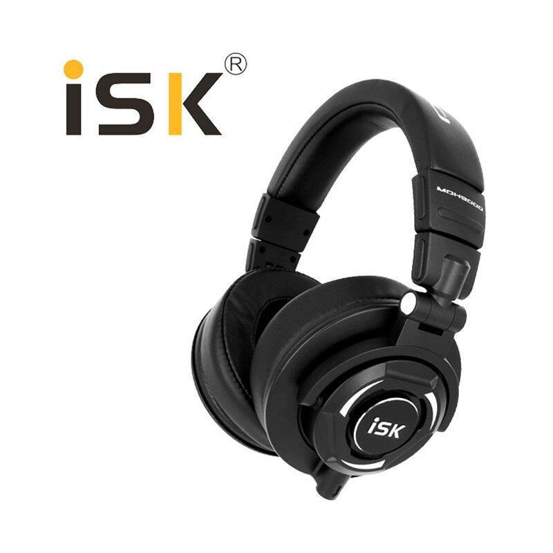100% Original Isk MDH9000 entièrement inclus moniteur professionnel casque Studio Dj casque 3D Surround Hifi stéréo son casque