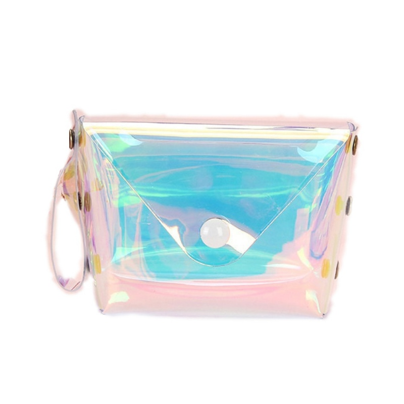 Creative Laser Reflective Coin Purse Holographic Practical Durable Portable Handheld Key
