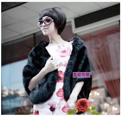 Free shipping The new imitation rabbit hair imitation fur shawl jacket bridal gown Cape fur collar
