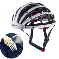New 260g Foldable Road Bicycle Helmet Lightweight Portable Cycling Bike Helmet City Bike Sports Safety Leisure