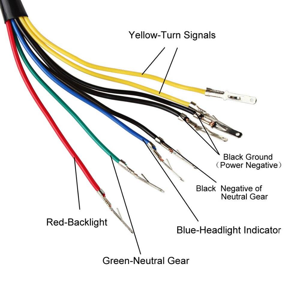 Led Backlight Motorcycle Speedometer Odometer Night Readable Speed Gauge Wiring Diagram Meter Panel Universal Instrument In Speedometers From