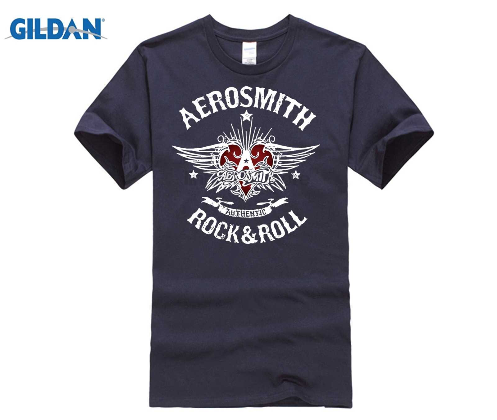 956d5e01 ... Rock Band Aerosmith Rock Roll Logo Print Mens Long T-Shirt camiseta Hip  Hop Popular ...