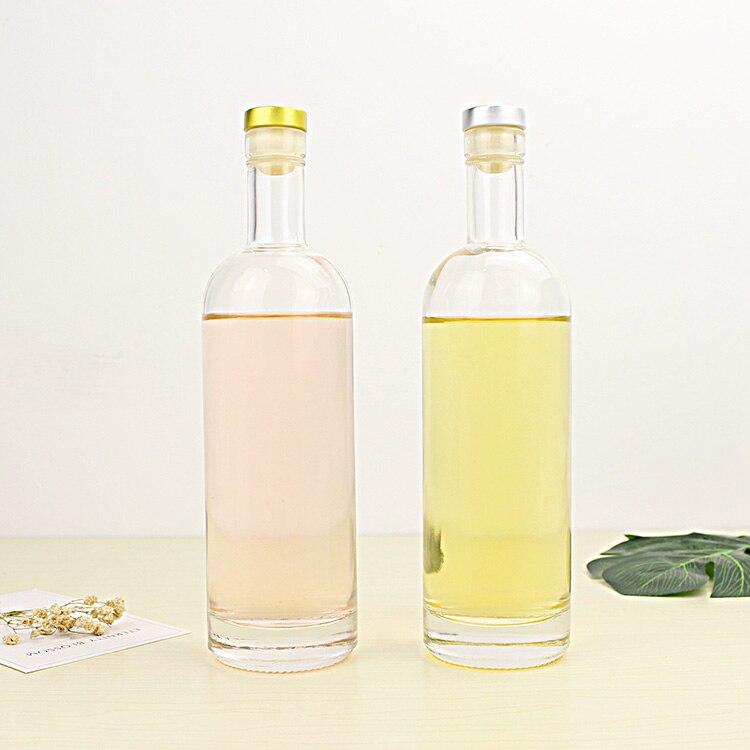 500ml vodka Glass bottles Crystal white material empty bottle Bottle Of Red Wine glass bottle