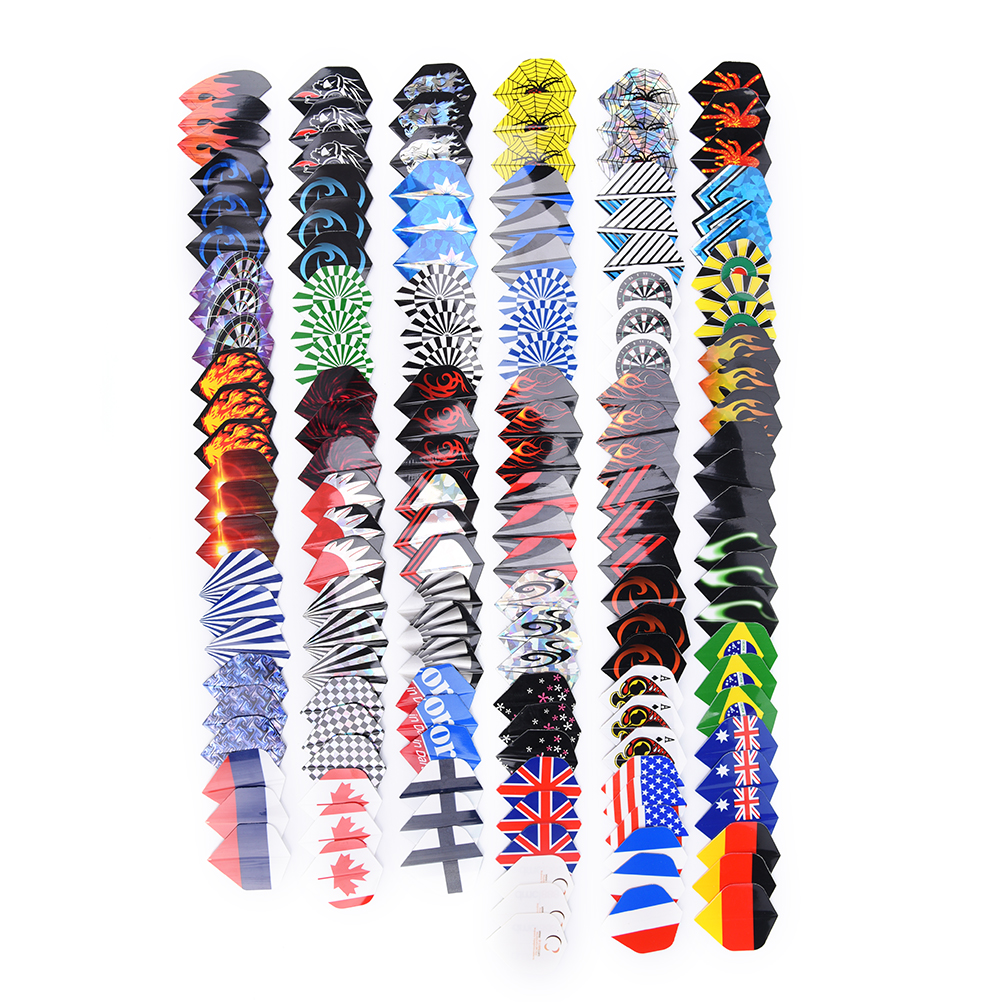 30/50/90/150 PCS PVC Dart Flights In 50 Kinds Of Patterns RARE Darts Fin Feather Accessories Super Value Flights