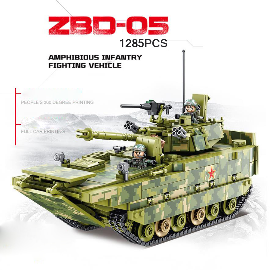 ZBD-05 Amphibious Infantry Fighting Vehicle Modern military figures block ww2 china army forces batisbricks minifigs tank toysZBD-05 Amphibious Infantry Fighting Vehicle Modern military figures block ww2 china army forces batisbricks minifigs tank toys