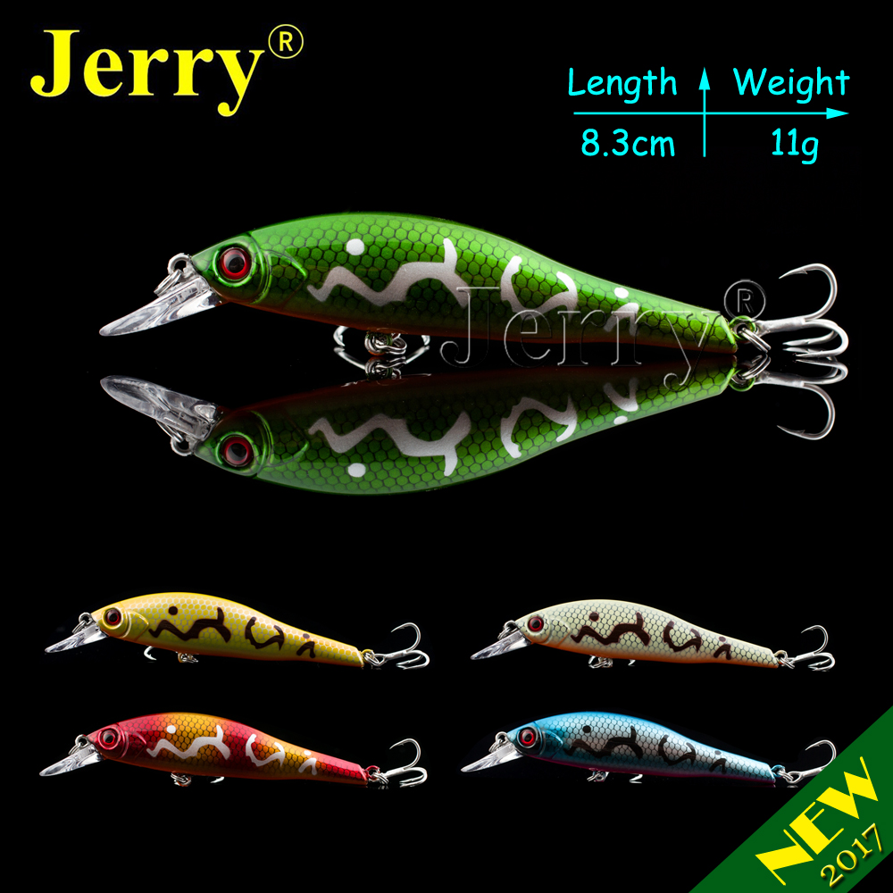 Jerry 1pc 8.3cm 11g  fishing lures hard plastic lure sinking minnow lures artificial bait for bass pike zander wldslure 1pc 54g minnow sea fishing crankbait bass hard bait tuna lures wobbler trolling lure treble hook