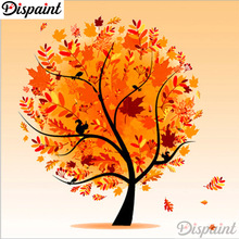 Dispaint Full Square/Round Drill 5D DIY Diamond Painting Four season tree 3D Embroidery Cross Stitch Home Decor A10222