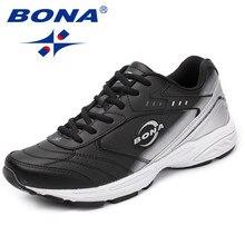 BONA – Baskets en croûte de cuir pour homme, nouvelles chaussures à la mode, décontractées, pour l'extérieur, à lacets, style classique, livraison rapide