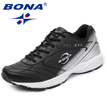BONA New Classics Style Men Casual Shoes Lace Up Loafers Split Leather Flats Outdoor Fashion Sneakers Fast Free Shipping