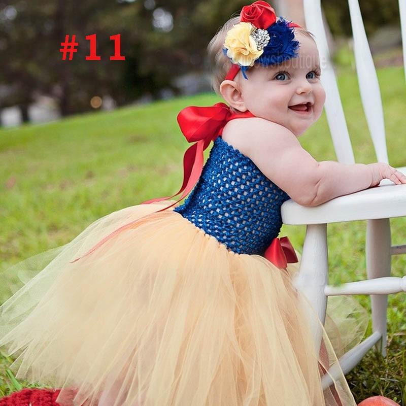 Toddler Girls Fancy Princess Tutu Dress Holiday Flower Double Layers Fluffy Baby Dress with Headband Photo Props TS044 27