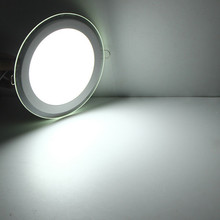 LED Panel Light 6W/9W/12W/18W Glasses Led Round Recessed Ceiling Downlight AC85-265V White/Warm White