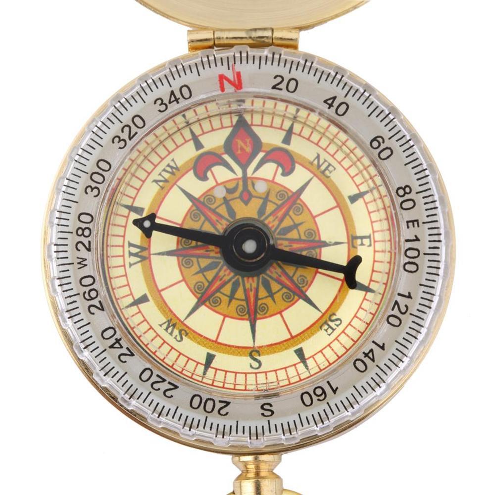 Медный компас, карманные часы, навигатор для охоты, туризма, отдыха на природе, походов, Военный Набор инструментов для выживания