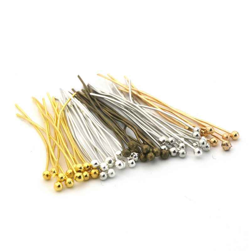 Color: Antique Bronze, Size: 50mm Length 200pcs//lot Gold Silver Antique Bronze Color Round Ball End Head Pin Needles 20 25 30 40 50mm Length for DIY Jewelry Accessories Laliva Accessories