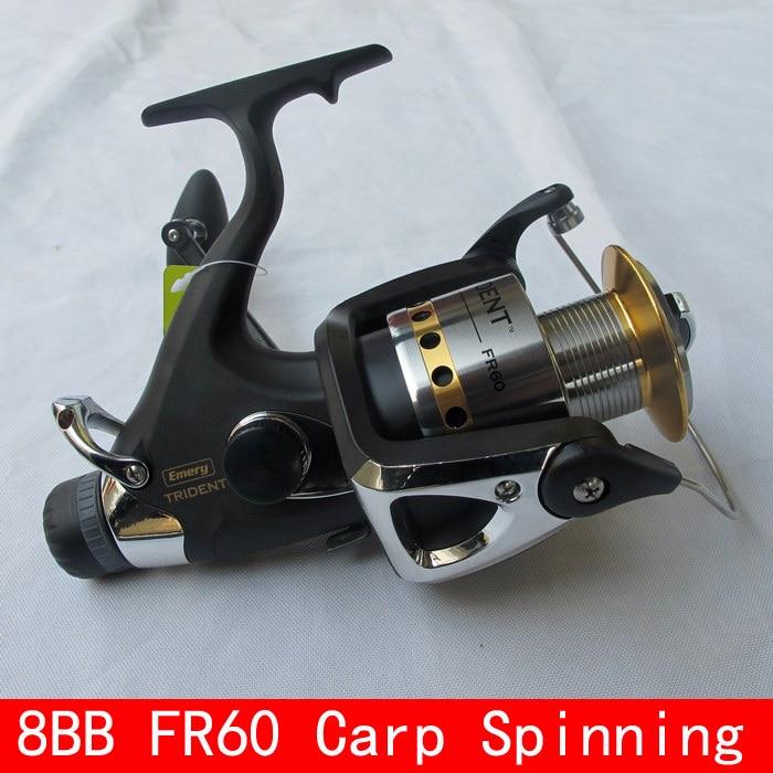 8BB 4.1:1 FR60 Carp Fishing Reel Front Drag Rear Drag Spinning Reel Bait Casting Reel Bait Runner Pesca Fishing Tackles