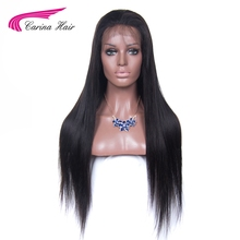 Carina 150% Density Brazilian Remy Straight Hair Lace Front Human Hair Wig With Baby Hair Free Part Pre-Plucked Natural Hairline
