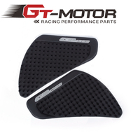 GT Motor New Arrival Black Motorcycle Tank Traction Side Pad Gas Fuel Knee Grip Decal For