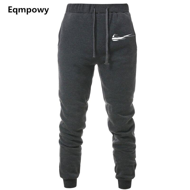 Nova Marca de Impressão do logotipo Academias Homens Pantalon Homme Sweatpants Corredores Corredores Homens Casuais Calças Esportivas Roupas Calças Musculação