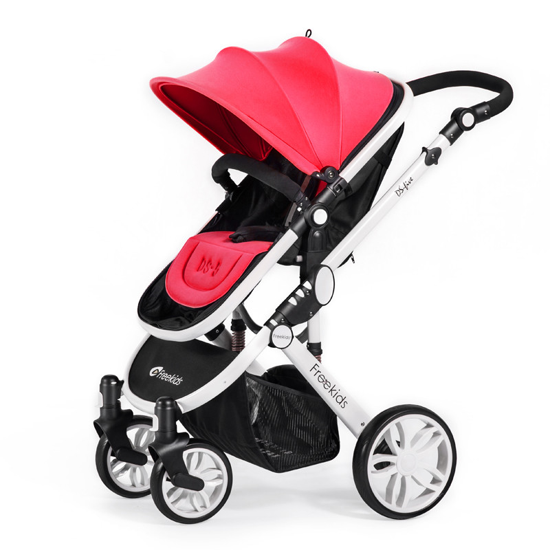 Kidstrave Luxury Baby Stroller 2 in 1 High Land-Scape Pram Portable Baby Carriages For Newborns Kinderwagen Russia Free Shipping цена