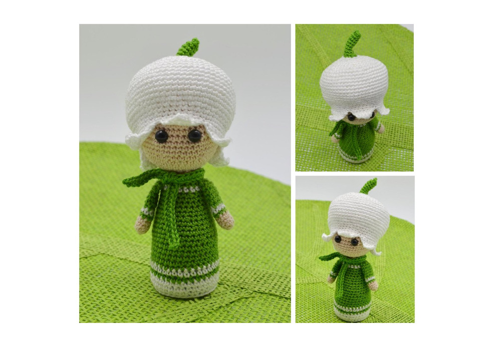 Giant Onion Otto flower doll - crochet pattern by Zabbez - amigurumi   707x1000