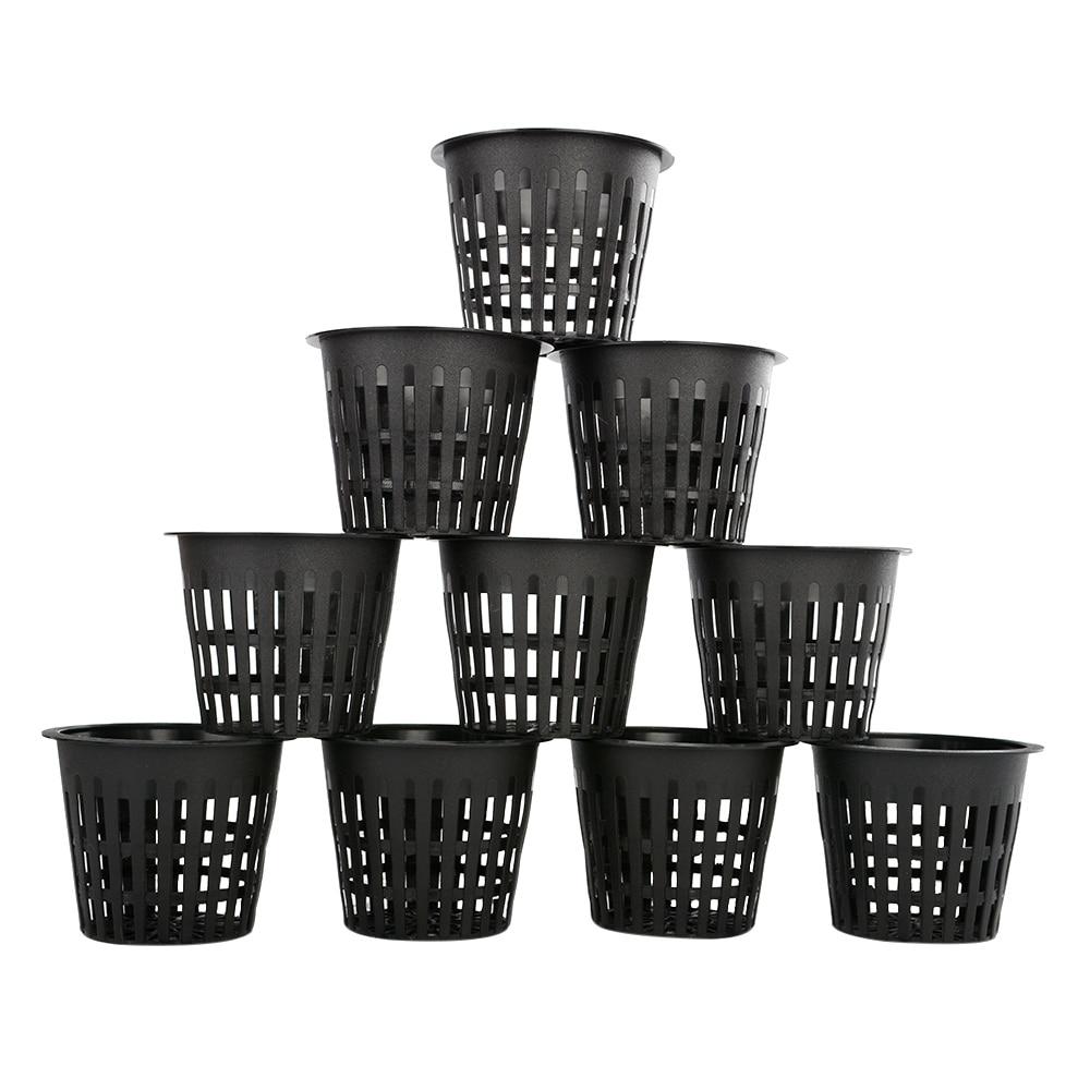 10x Heavy Duty Mesh Pot Net Cup Basket Hydroponic Aeroponic Plant Grow Clone